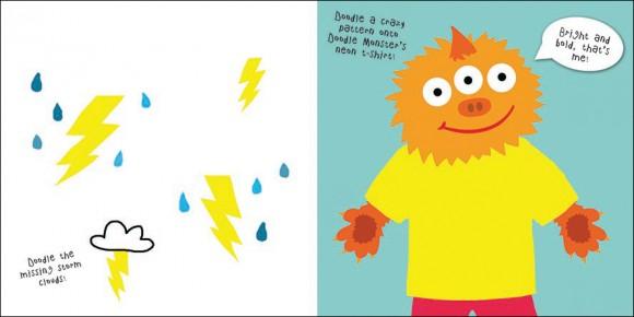 Neon dinky doodles spread 2