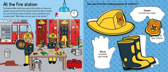 Let's Pretend Firefighter Spread 1
