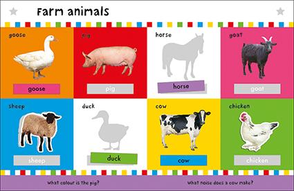 First 100 Words Sticker Book Spread 2