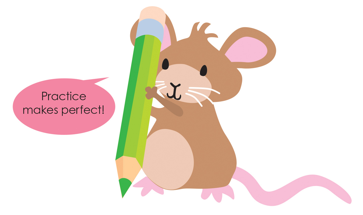 MOUSE WITH PENCIL