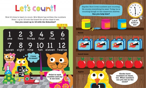 Priddy Books - Schoolies My School Day - Let's count