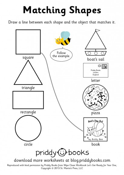 Common Worksheets » Shape Matching Worksheets - Preschool and ...