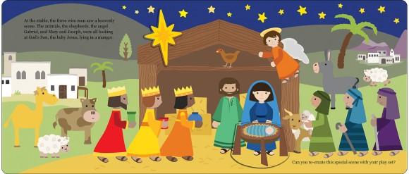 Let's Pretend Nativity Set Spread 3 UK